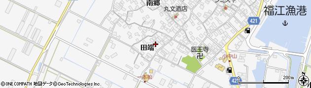 愛知県田原市小中山町(田端)周辺の地図