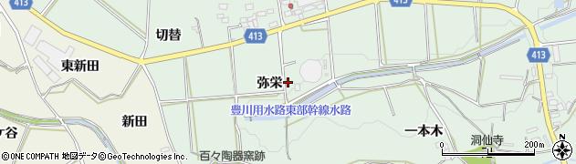 愛知県田原市六連町(弥栄)周辺の地図