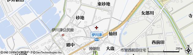 愛知県田原市伊川津町(大薮)周辺の地図