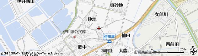 愛知県田原市伊川津町周辺の地図