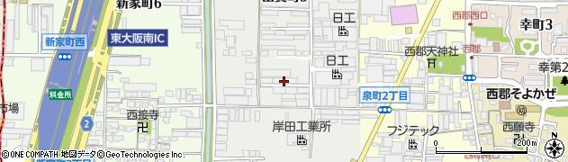 大阪府八尾市山賀町周辺の地図