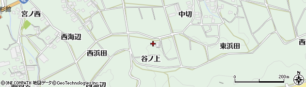 愛知県田原市六連町(谷ノ上)周辺の地図
