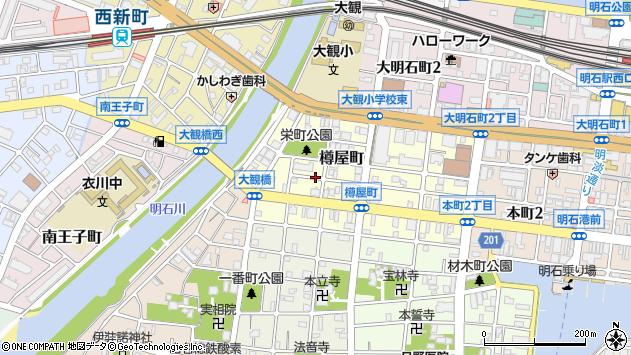〒673-0898 兵庫県明石市樽屋町の地図