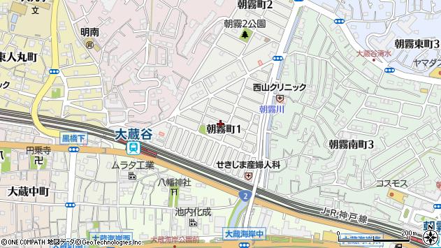 〒673-0866 兵庫県明石市朝霧町の地図