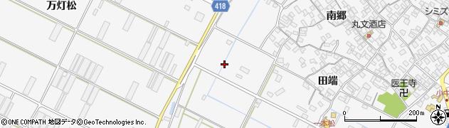 愛知県田原市小中山町周辺の地図