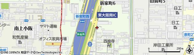 大阪府八尾市新家町周辺の地図