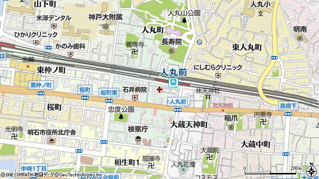〒673-0881 兵庫県明石市天文町の地図