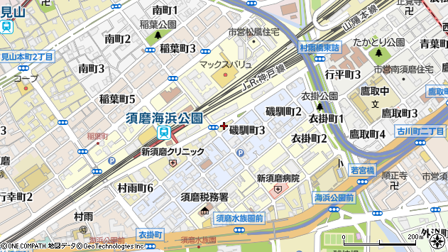 〒654-0046 兵庫県神戸市須磨区村雨町の地図