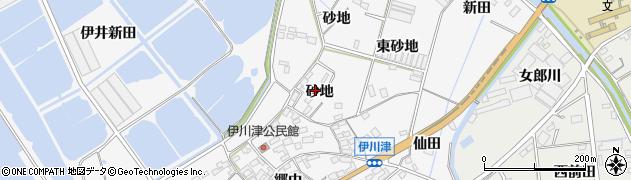 愛知県田原市伊川津町(砂地)周辺の地図