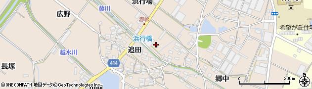 愛知県田原市西神戸町(浜行場)周辺の地図