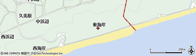 愛知県田原市六連町(東海岸)周辺の地図