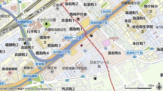 〒654-0041 兵庫県神戸市須磨区古川町の地図