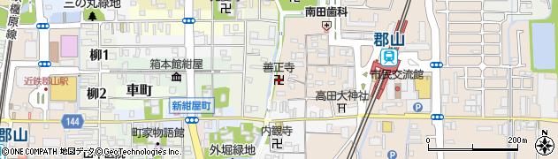善正寺周辺の地図