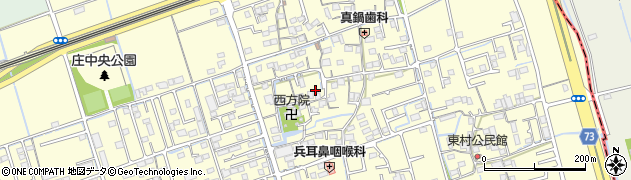 岡山県倉敷市上東周辺の地図