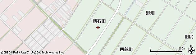 愛知県田原市大久保町(新石田)周辺の地図