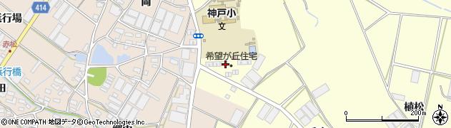 愛知県田原市神戸町(上り口)周辺の地図