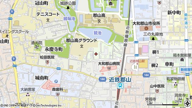 〒639-1012 奈良県大和郡山市城見町の地図