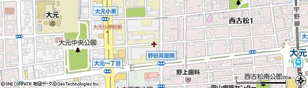 岡山県岡山市北区西古松西町周辺の地図