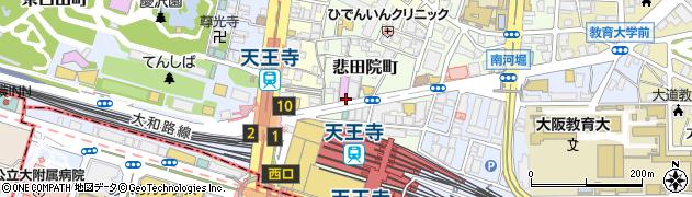 大阪府大阪市天王寺区悲田院町周辺の地図