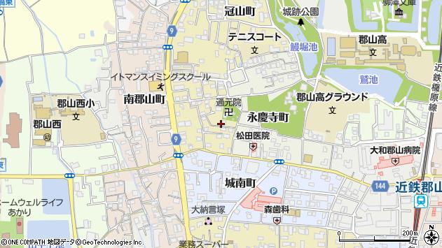 〒639-1017 奈良県大和郡山市藤原町の地図