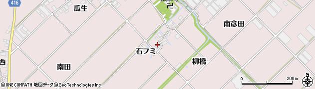 愛知県田原市野田町(石フミ)周辺の地図