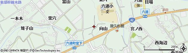 愛知県田原市六連町(聖川)周辺の地図