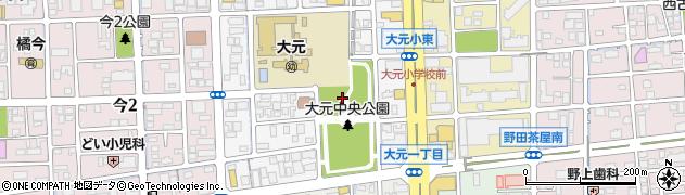 岡山県岡山市北区大元上町周辺の地図