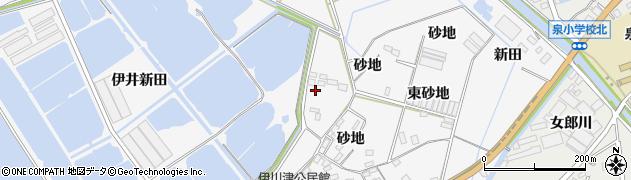 愛知県田原市伊川津町(伊井新田)周辺の地図