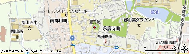 通元院周辺の地図
