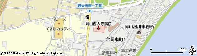 岡山西大寺病院周辺の地図