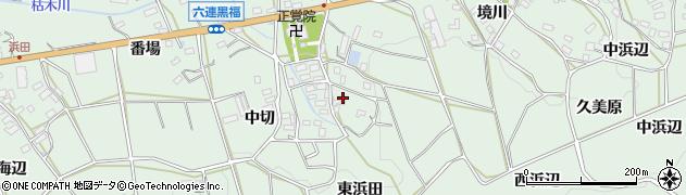愛知県田原市六連町(東海辺)周辺の地図