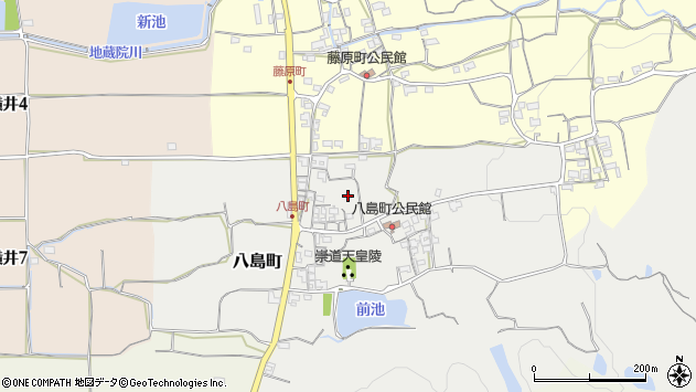 〒630-8435 奈良県奈良市八島町の地図