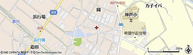 愛知県田原市西神戸町(岡)周辺の地図