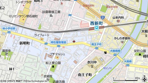 〒673-0025 兵庫県明石市田町の地図