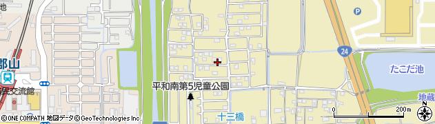 平和北団地周辺の地図