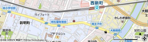 兵庫県明石市田町1丁目周辺の地図