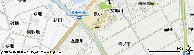 愛知県田原市江比間町(女郎川)周辺の地図