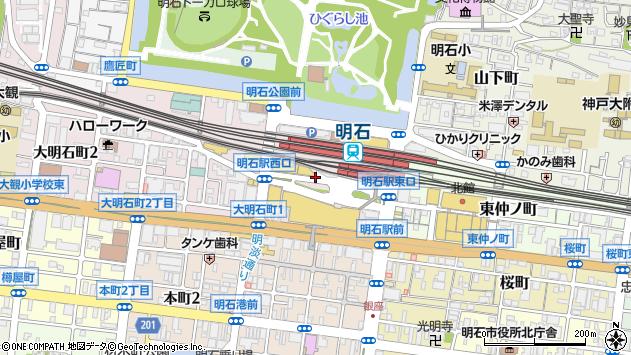 〒673-0891 兵庫県明石市大明石町の地図