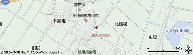 愛知県田原市大久保町(北浅場)周辺の地図