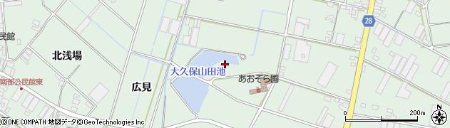 愛知県田原市大久保町(山田)周辺の地図