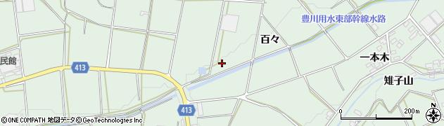 愛知県田原市六連町(百々)周辺の地図