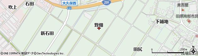 愛知県田原市大久保町(野畑)周辺の地図