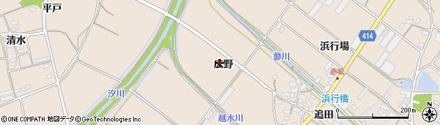 愛知県田原市西神戸町(広野)周辺の地図