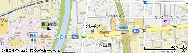 岡山県岡山市北区西長瀬周辺の地図