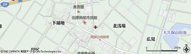 愛知県田原市大久保町周辺の地図