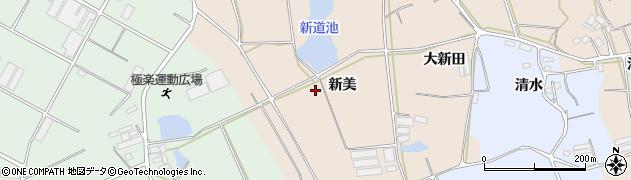 愛知県田原市西神戸町(新美)周辺の地図