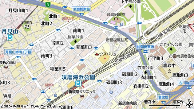 〒654-0045 兵庫県神戸市須磨区松風町の地図