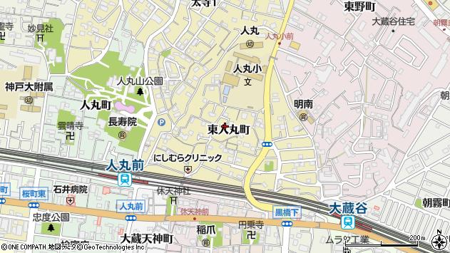 〒673-0876 兵庫県明石市東人丸町の地図