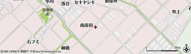 愛知県田原市野田町(南彦田)周辺の地図