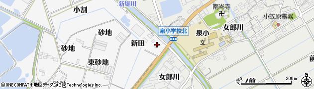 愛知県田原市伊川津町(新田)周辺の地図
